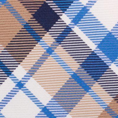 Mens Designer Ties: Taupe Nautica Camotes Plaid Tie