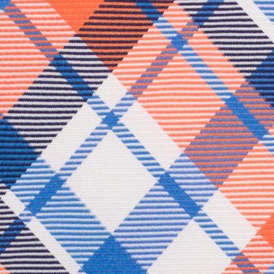 Mens Designer Ties: Orange Nautica Camotes Plaid Tie