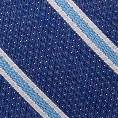 Mens Designer Ties: Blue Nautica Oman Stripe Tie