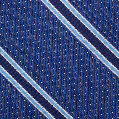 Mens Designer Ties: Navy Nautica Oman Stripe Tie