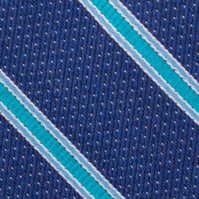 Mens Designer Ties: Aqua Nautica Oman Stripe Tie