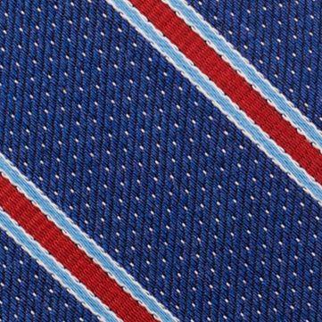 Mens Designer Ties: Red Nautica Oman Stripe Tie