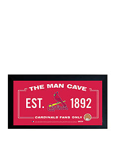 Steiner Sports™ MLB St. Louis Cardinals Man Cave Sign With Game-Used Dirt