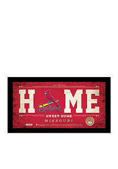 Steiner Sports™ MLB St. Louis Cardinals Home Sweet Home Sign With Game-Used Dirt