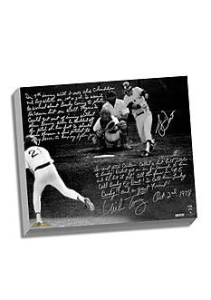 Steiner Sports™ MLB Bucky Dent & Mike Torrez Facsimile1978 Walk-Off Home Run Canvas