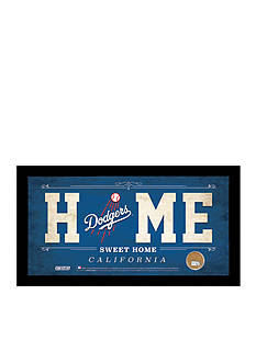 Steiner Sports™ MLB Los Angeles Dodgers Home Sweet Home Sign With Game-Used Dirt