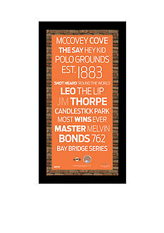 Steiner Sports™ MLB San Francisco Giants Subway Sign With Game-Used Dirt