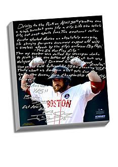 Steiner Sports™ Jonny Gomes's Facsimile Boston Strong Canvas