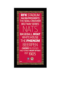 Steiner Sports™ MLB Washington Nationals Vintage Subway Sign