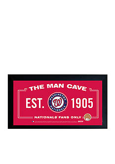 Steiner Sports™ MLB Washington Nationals Man Cave Sign With Game-Used Dirt
