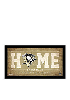 Steiner Sports™ Pittsburgh Penguins Home Sweet Home Sign Framed