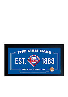 Steiner Sports™ MLB Philadelphia Phillies Man Cave Sign With Game-Used Dirt
