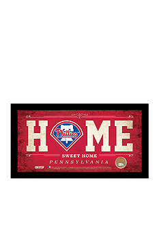 Steiner Sports™ MLB Philadelphia Phillies Home Sweet Home Sign With Game-Used Dirt