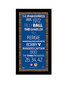 Steiner Sports™ Steiner Sports MLB Texas Rangers Subway Sign With Game-Used Dirt