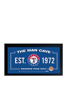 Steiner Sports™ Texas Rangers Man Cave Framed