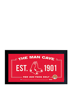 Steiner Sports™ MLB Red Sox Man Cave Sign With Game-Used Dirt