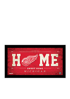 Steiner Sports™ NHL Detroit Red Wings Home Sweet Home Sign Framed