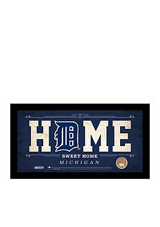 Steiner Sports™ MLB Detroit Tigers Home Sweet Home Sign With Game-Used Dirt