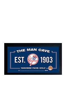 Steiner Sports™ MLB New York Yankees Home Sweet Home Sign With Game-Used Dirt