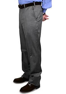 BERLE Gabardine Wool Self Sizer Waistband Trousers