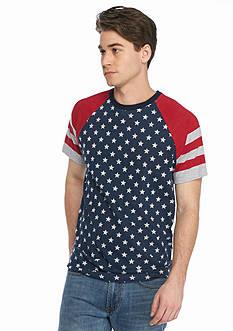 BEVEL™ Flag Print Raglan T-Shirt