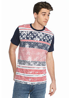 BEVEL™ Stars And Stripes Crew Neck T-Shirt