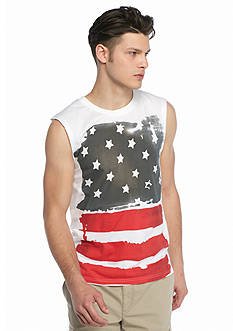 OVERDRIVE™ Flag Graphic Muscle Tank