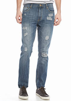 Brooklyn CLOTH Mfg. Co. Slim Destructed Denim Jeans
