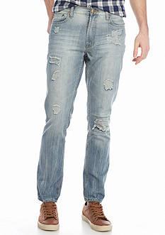 Brooklyn CLOTH Mfg. Co. Slim Destructed Denim Jeans