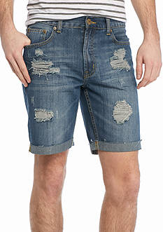 Brooklyn CLOTH Mfg. Co. Destructed Denim Shorts