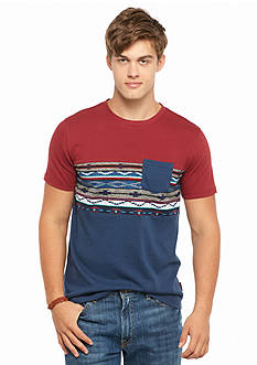 Brooklyn CLOTH Mfg. Co. Short Sleeve Colorblock Tribal T-Shirt