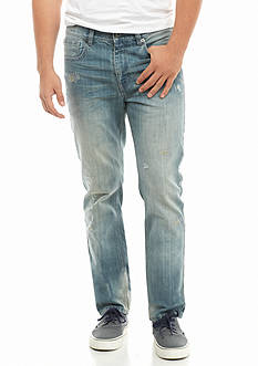 Hollywood The Jean People Slim Destructed Denim Jeans