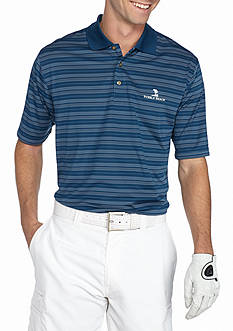PEBBLE BEACH™ Classic-Fit Texture-Striped Performance Golf Polo Shirt