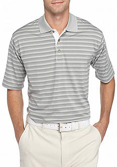 PEBBLE BEACH™ Classic-Fit Shadow-Striped Performance Golf Polo Shirt