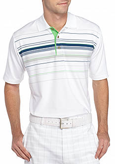 PEBBLE BEACH™ Classic-Fit Chest-Striped Performance Golf Polo Shirt