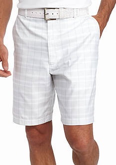 PEBBLE BEACH™ 9.5-in. Classic-Fit Plaid Performance Golf Shorts