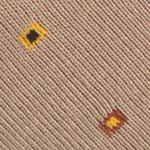 Mens Casual Socks: Khaki Saddlebred Mercerized Cotton Boxed Dot Neat Crew Socks - Single Pair