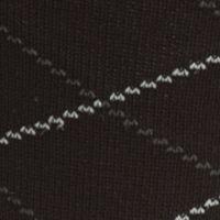 Mens Casual Socks: Black Saddlebred Mercerized Cotton Lattice Crew Sock - Single Pair