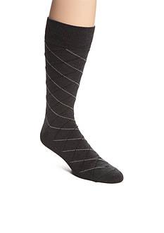Saddlebred Mercerized Cotton Lattice Crew Sock - Single Pair