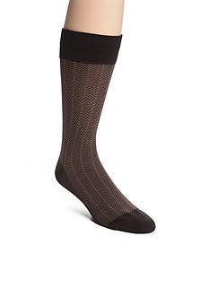 Saddlebred Mercerized Cotton Herringbone Crew Socks - Single Pair