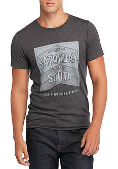Saturday Down South Stacked Vintage Tee
