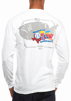 Saturday Down South Comfort Colors Nation Long Sleeve Pocket Tee