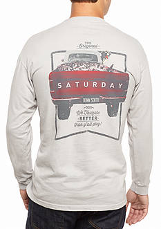 Saturday Down South Comfort Colors We Tailgate Better Than Y'all Play Long Sleeve Pocket Tee