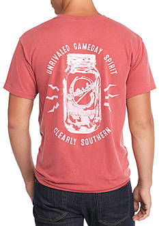 Saturday Down South Comfort Colors Mason Jar Pocket Tee