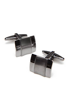 Kenneth Cole Reaction Black Cutout Cufflinks