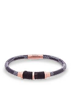 Steve Madden Rose Gold-Toned Cord Bracelet