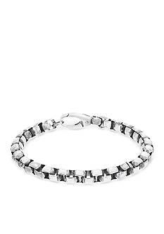 Steve Madden Silver-Tone Box Chain Bracelet