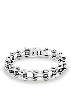 Steve Madden Silver-Tone Bike Link Chain Bracelet
