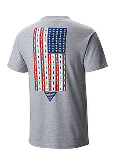 Columbia Big & Tall PFG Americana Fish Flag™ Short Sleeve Graphic Tee