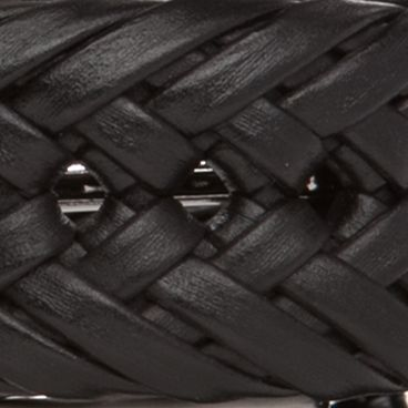 Big and Tall Belts: Black Nautica Big & Tall Handlaced Basket Weave Braided Belt